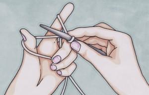 Illustrasjon strikking